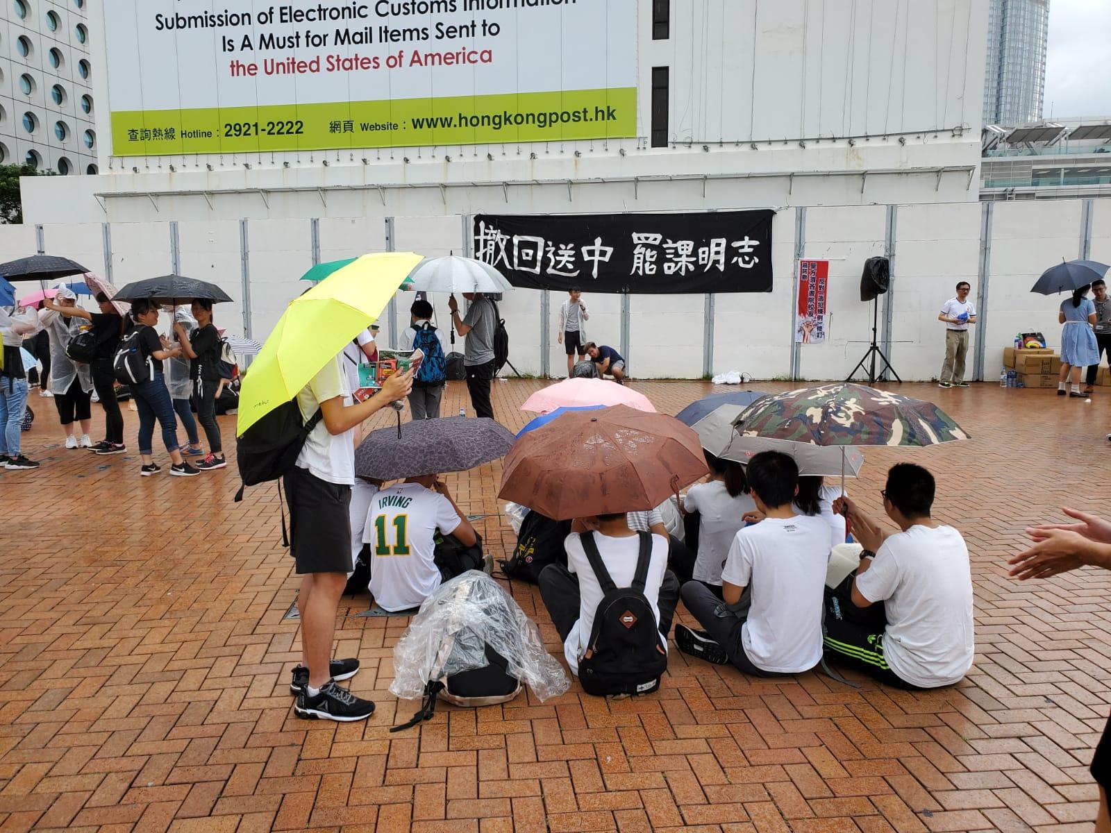 部分學生參與罷課。