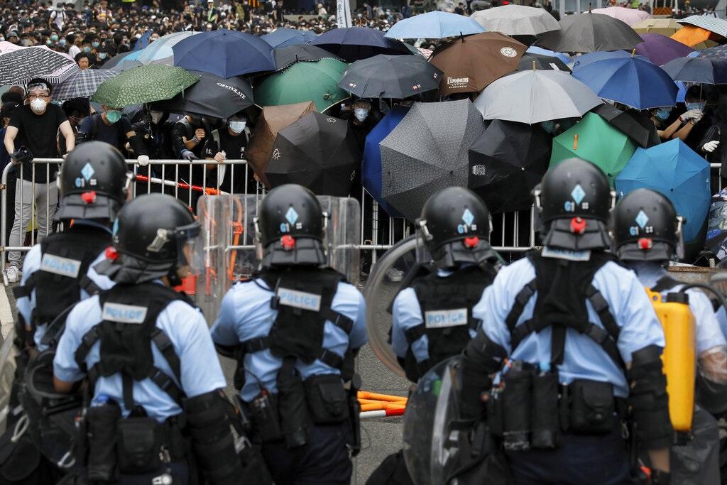 本港反對《修訂逃犯》條例的示威持續。AP圖片