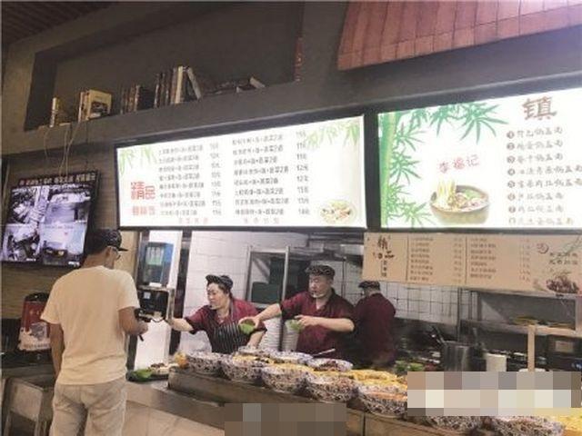 大學食堂吸引不少「蹭飯族」前往用餐。網圖