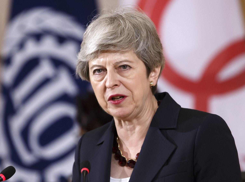 文翠珊指,英國一定要領導世界,追求更潔淨、更環保的增長。AP