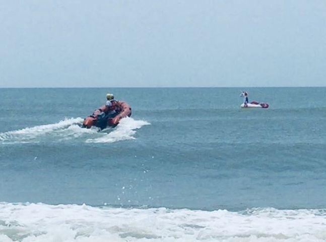 救援人員成功把男童救上岸。網圖
