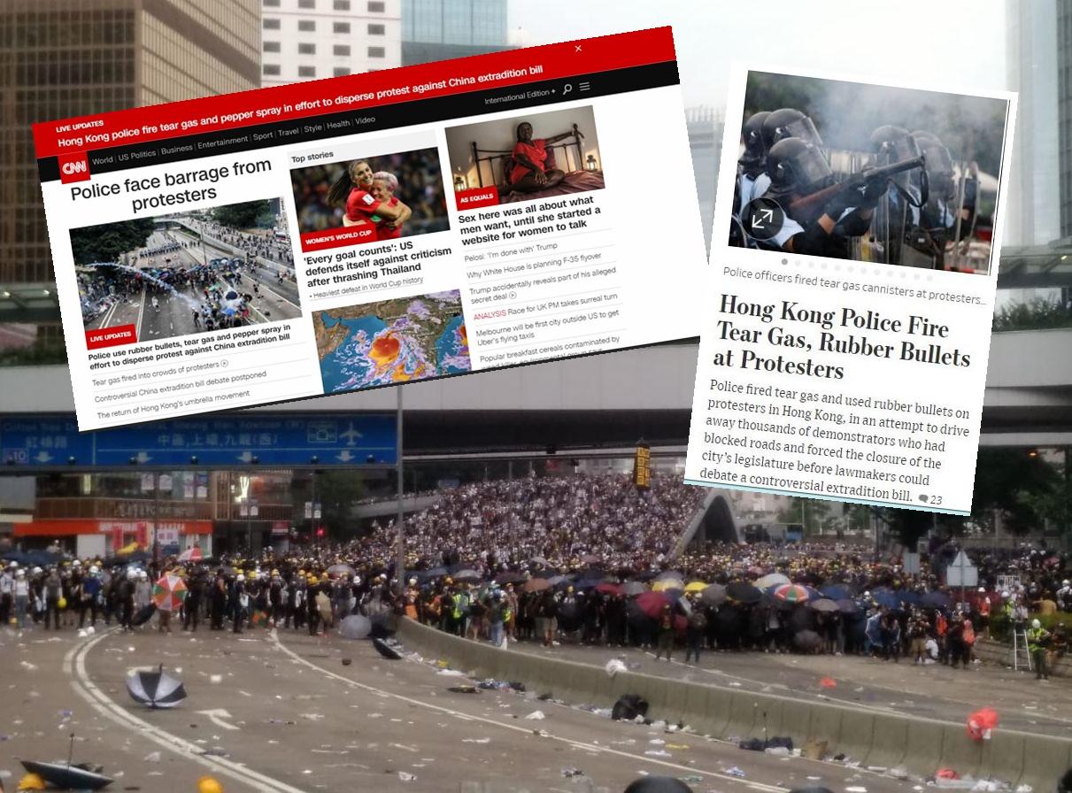 不少外國傳媒網站均以頭條報道相關事件。