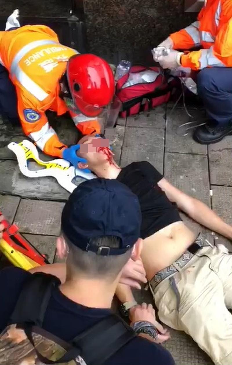 其中一名傷者。