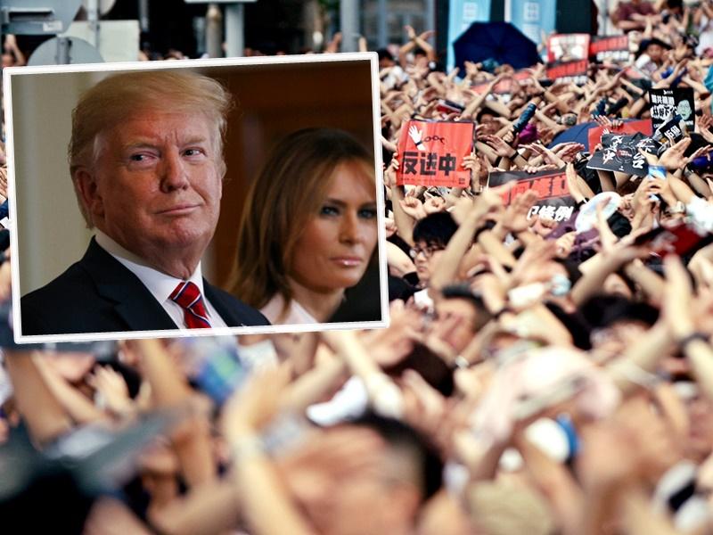 特朗普稱能了解港人為何示威,並深信中國和香港能夠解決問題。