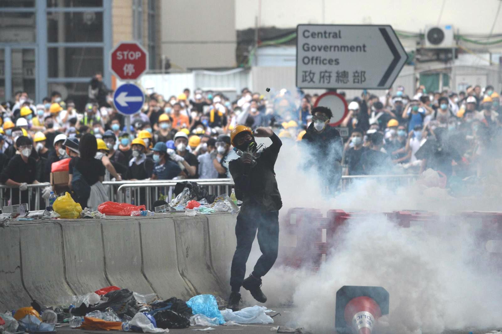 台灣陸委會提醒旅客暫避免前往香港。資料圖片