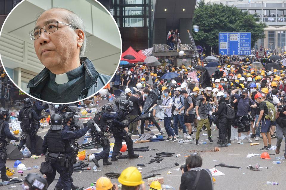夏志誠昨晚在特別彌撒中表示對事件感到難過。
