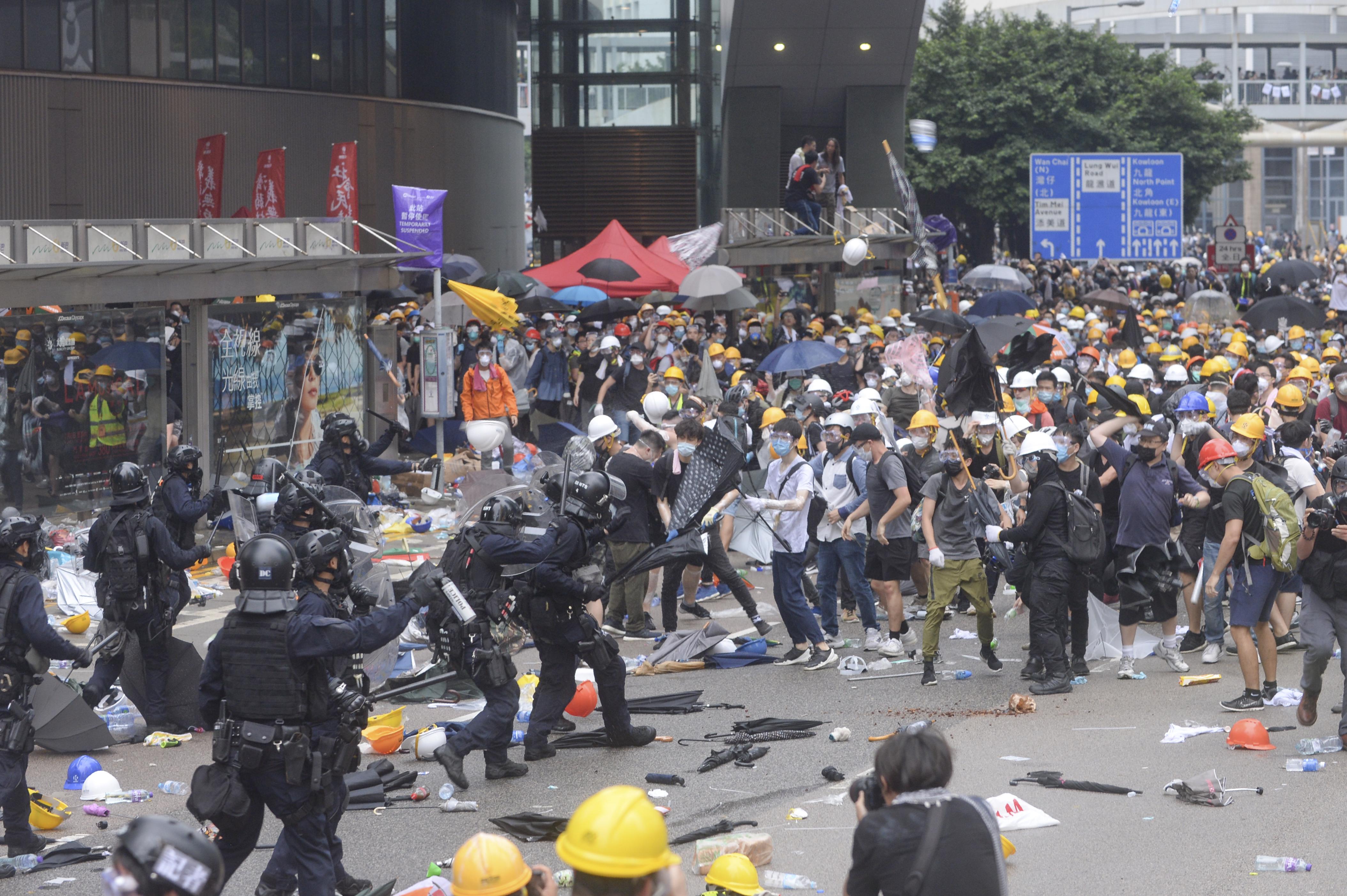 大專聯發聲明,譴責警方濫用武力。 資料圖片