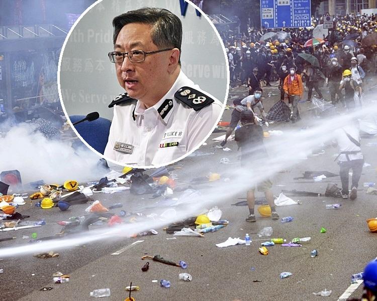 盧偉聰指警方昨日只以低殺傷力武力驅散示威者。