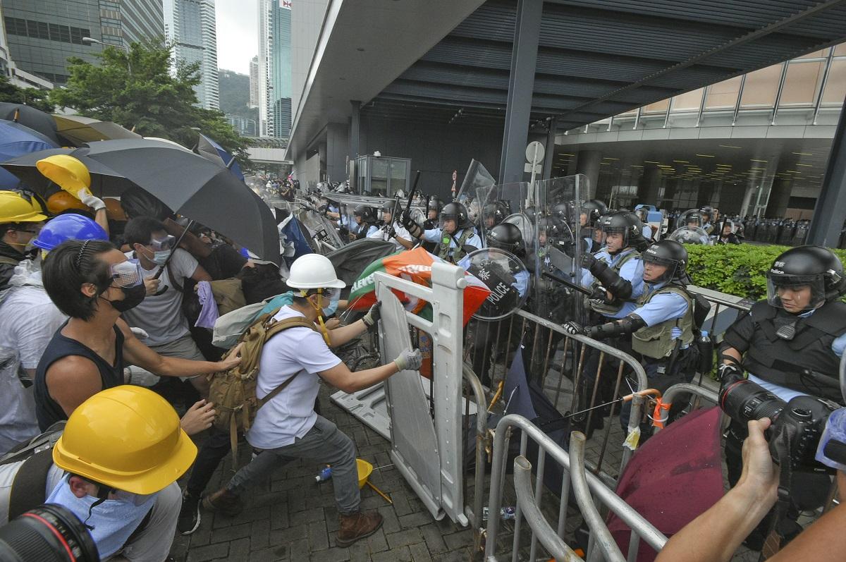 反《逃犯條例》衝突,多人受傷。資料圖片