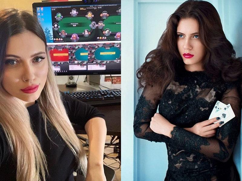 俄罗斯26岁女子诺维科娃(Lilya Novikova)是网络扑克玩家,同时也在Twitch直播自己玩扑克的过程。(网图)