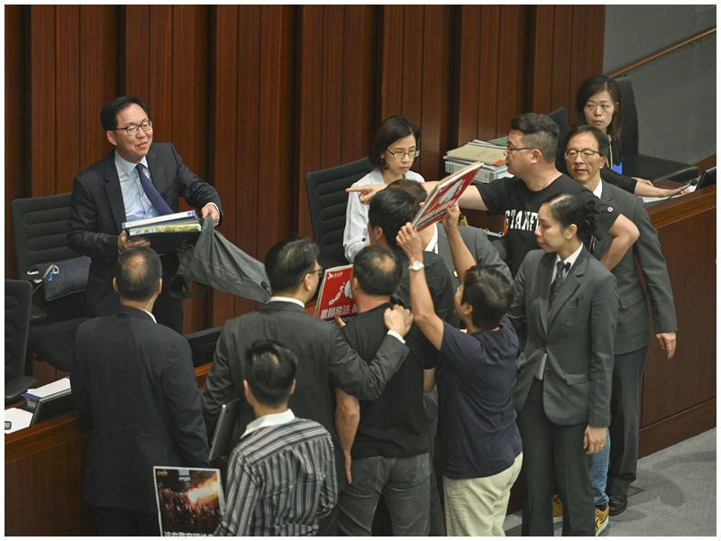 【逃犯條例】泛民規程問題抗議立會保安安排 內會財會雙雙腰斬