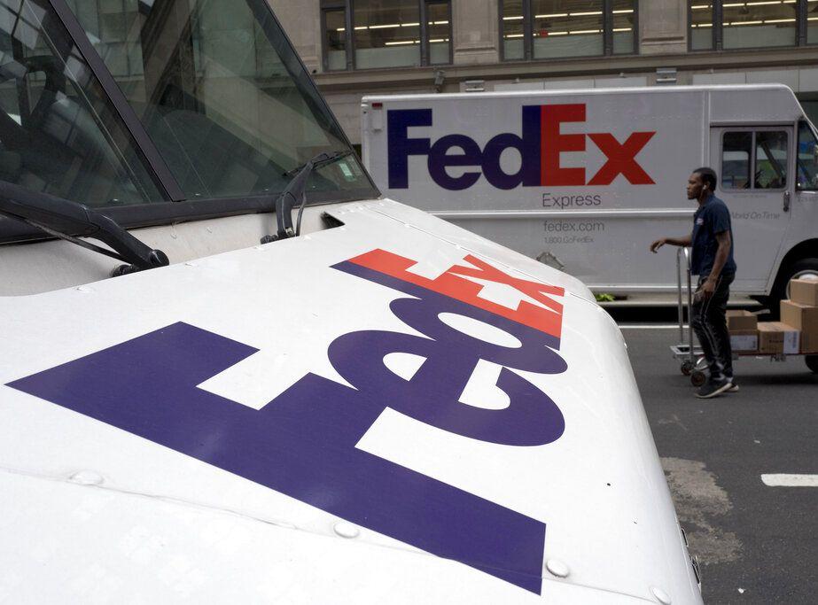 FedEx上月将两个华为包裹擅自调运到美国。AP
