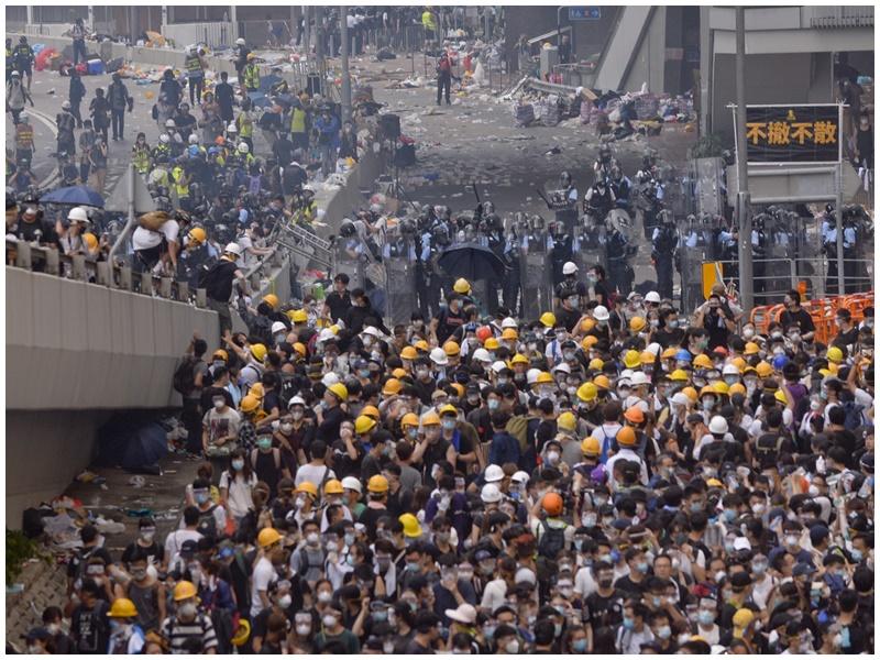 聯署憂年輕人再上街頭演發衝突。資料圖片
