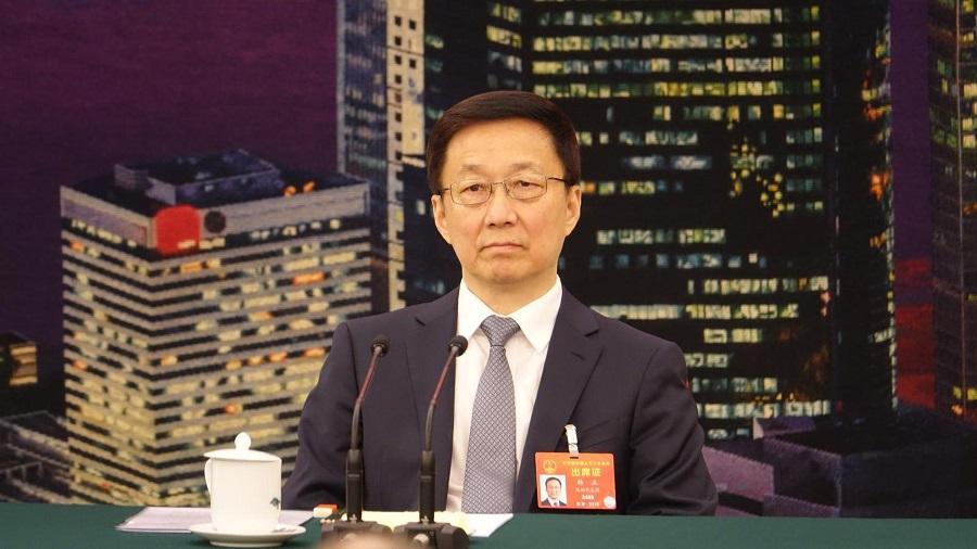 韓正近日南下深圳,並曾與特首林鄭月娥商討事件。資料圖片