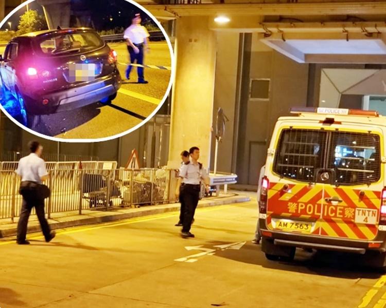 警方強調警員開槍符合指引。小圖為涉案私家車。