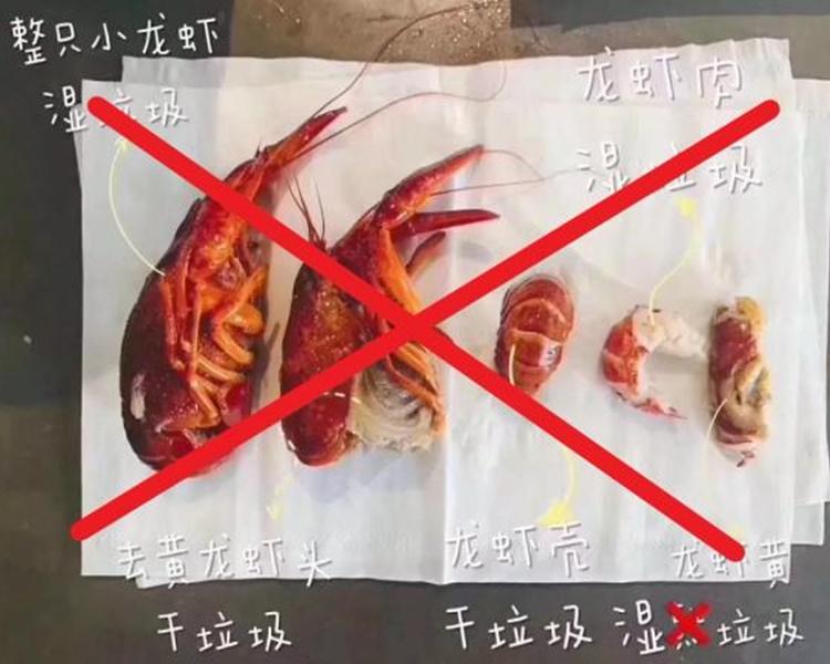 内地网上疯传「小龙虾身后事分类图」。