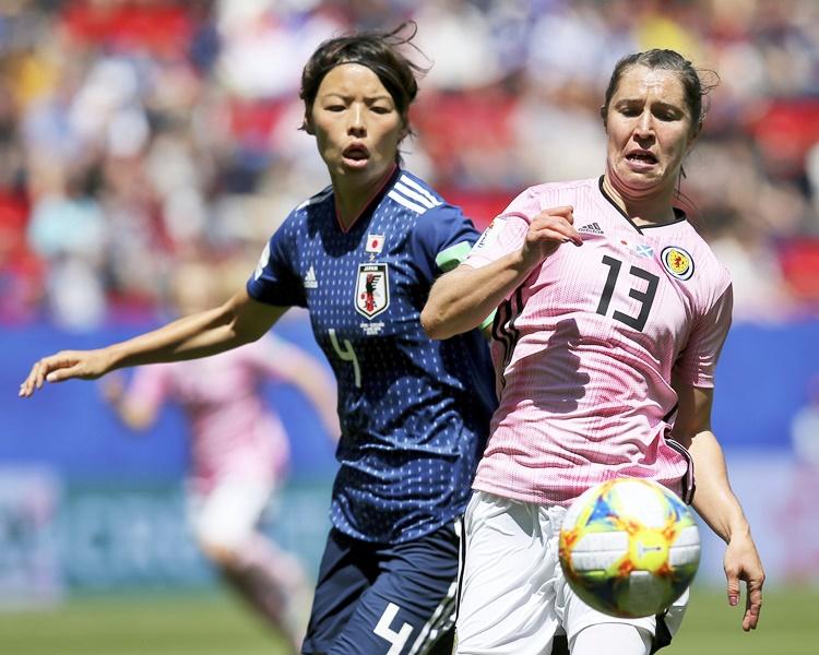 日本以2:1擊敗蘇格蘭,打開勝利之門。AP