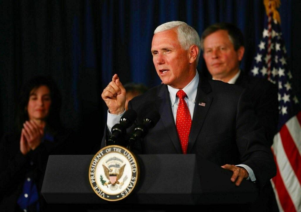 美國副總統彭斯。AP圖片