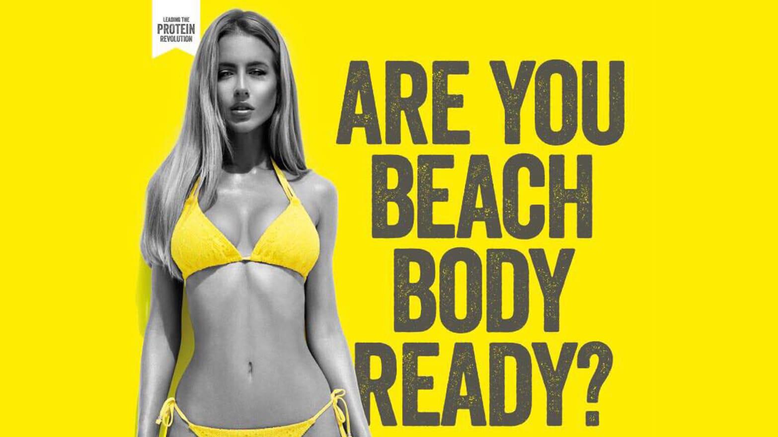 2015年,倫敦地鐵站牆上一個減肥產品廣告引起爭議。網上圖片
