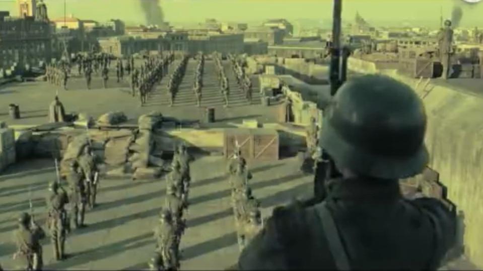 《八佰》講述中國在1937年抗戰。電影截圖