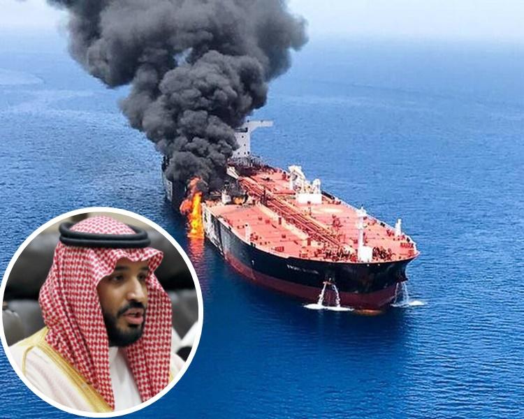 小萨勒曼公开怒斥两艘运油轮遭受袭击。资料图片