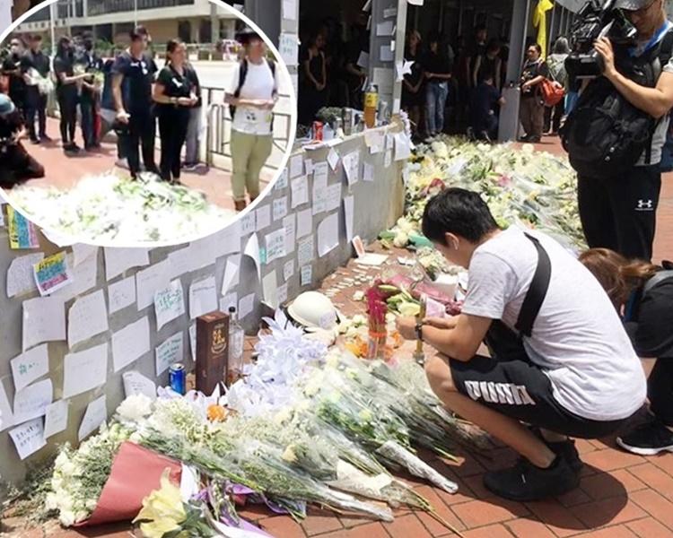 小圖為FB「香港突發事故報料區」Alexander Lau片段截圖;大圖為Tony Tam圖片