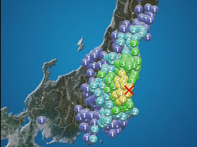 日本茨城县北部发生5.2级地震。(网图)