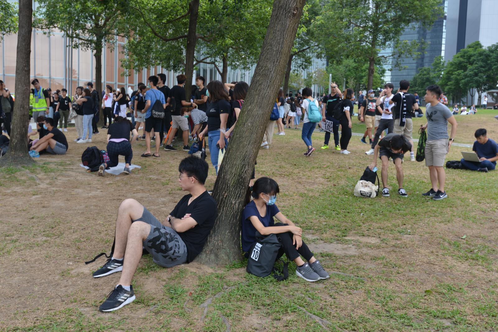 【逃犯條例】天雨影響 香港眾志取消添馬公園罷課集會