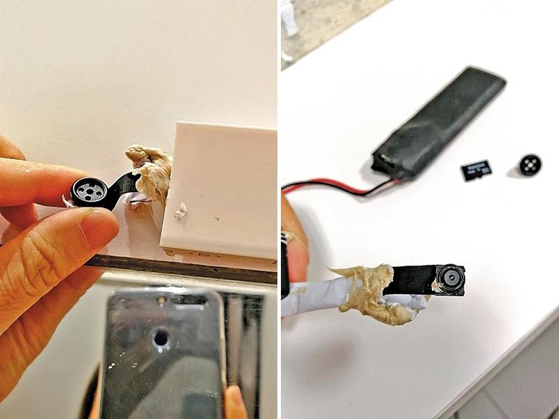 深圳一名女士在一間Uniqlo試衣服時,發現試身室內竟然藏有針孔攝影機。 網上圖片