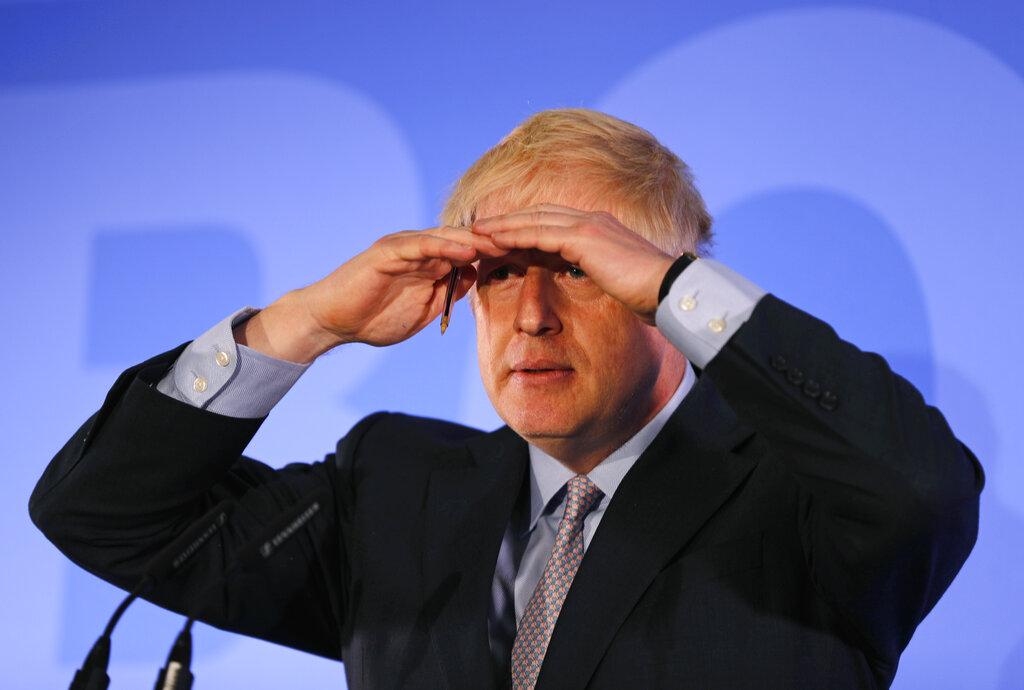 约翰逊没有出席周日举行的电视辩论会。 图片