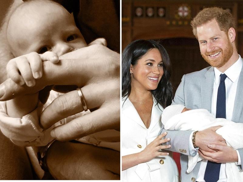 英国哈里王子和夫人梅根周日趁着父亲节,发布儿子阿奇的照片。 哈里王子IG/图片