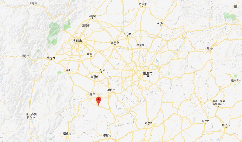 四川宜賓市附近發生6級地震。網上圖片