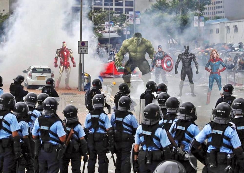 唔做「復仇者」,變成示威者。網圖