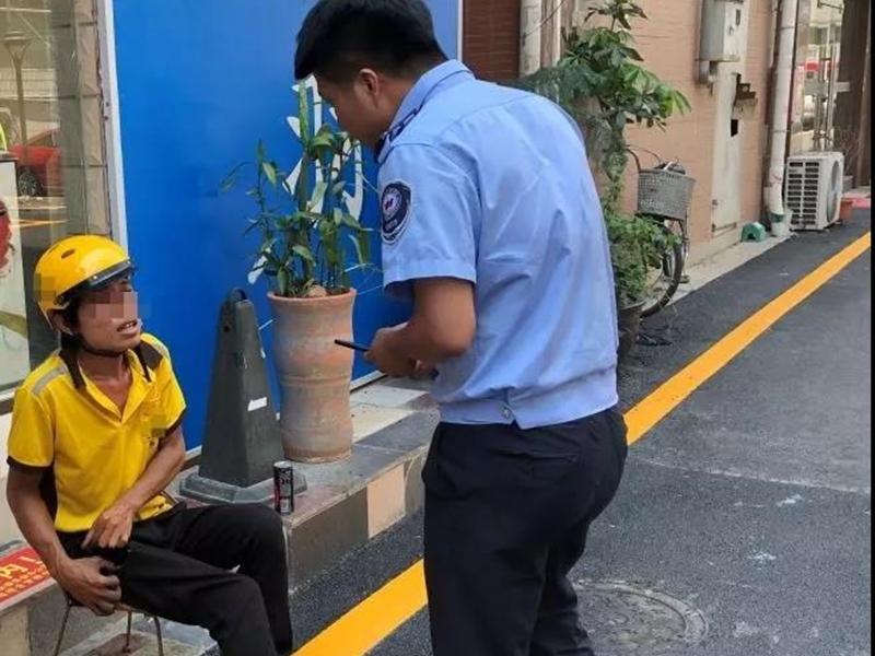 深圳一名外賣員工作期間將充電器放在褲袋裡,不料發生爆炸。網上圖片