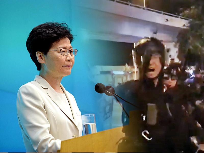 林鄭月娥被多次問及警方執法問題,她回應指市民可按機制投訴。