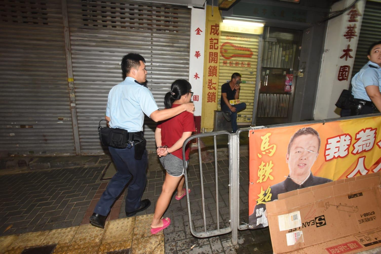 觀塘婦人涉斬傷丈夫被帶走調查。