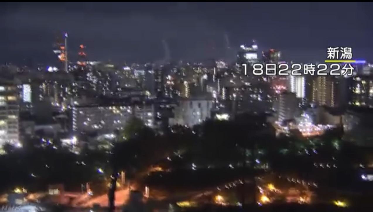 新潟縣最大震度達到6強級。日本放送協會