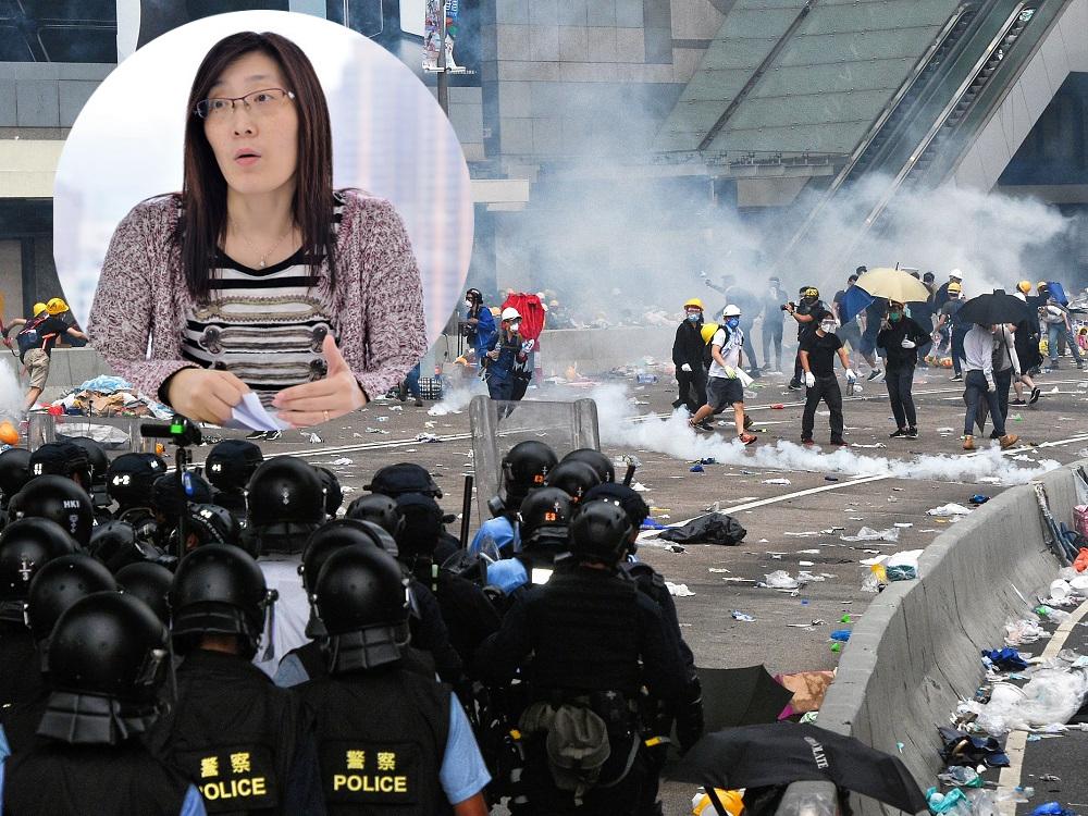 反對修訂《逃犯條例》 引發的衝突為不少人埋下「情緒炸彈」。(小圖為青協業務總監徐小曼)。