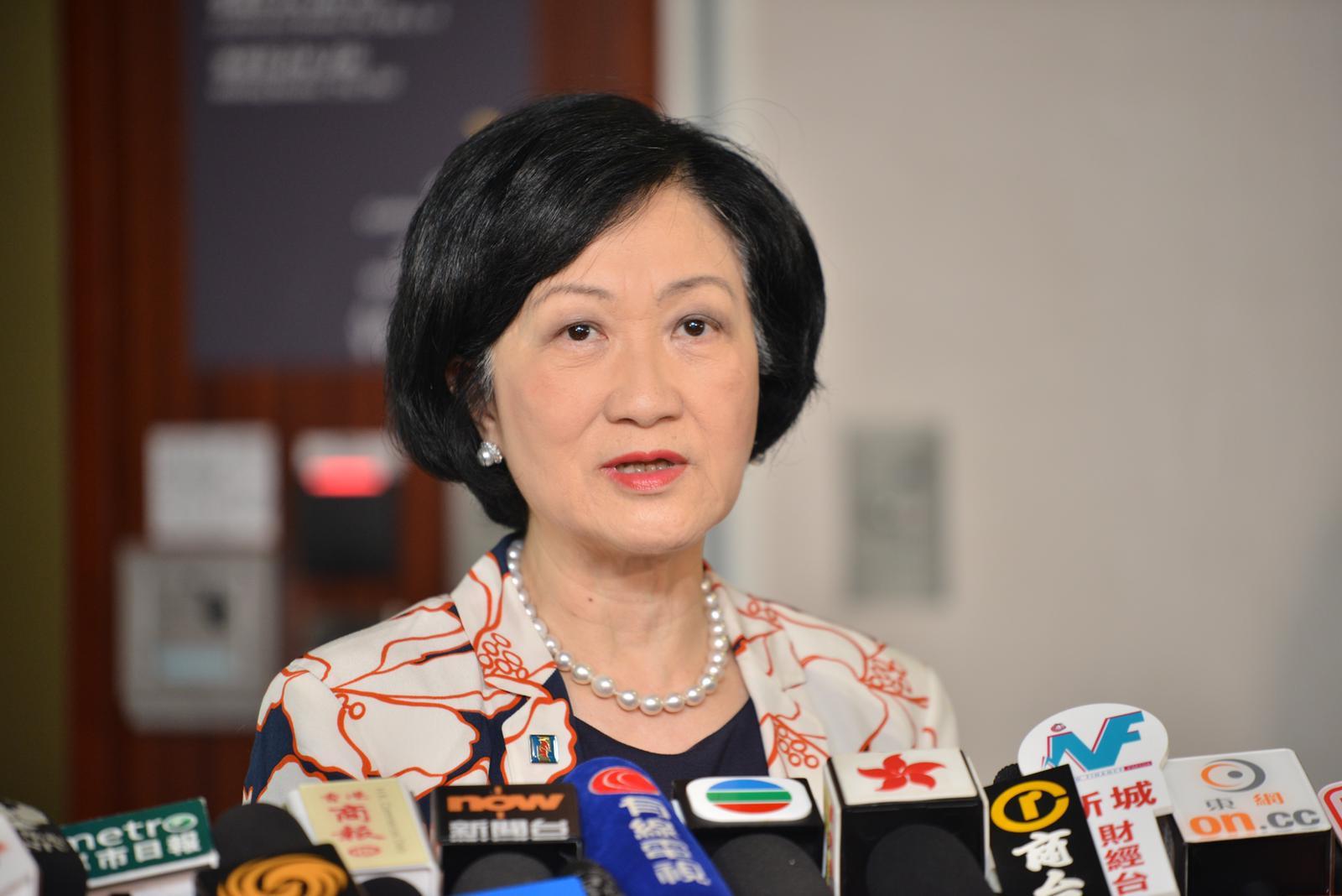 葉劉淑儀不回應行政長官林鄭月娥有無對不起建制派。 資料圖片