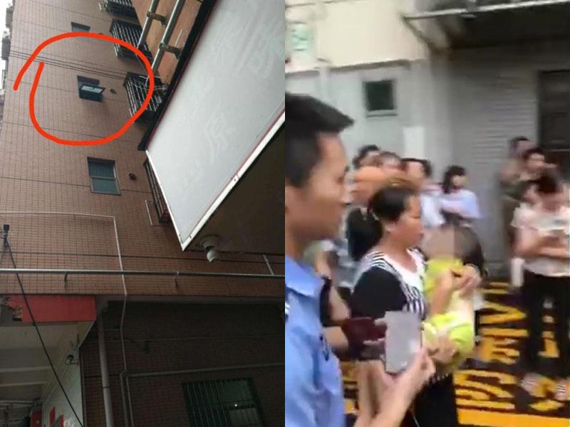 女童從3樓窗戶墜落 三人衝上前徒手接孩子。(網圖)