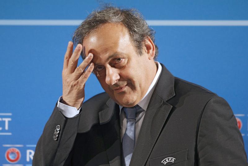 前歐洲足協主席柏天尼,疑因2022年世界盃主辦國選舉受賄,於法國接受調查。AP