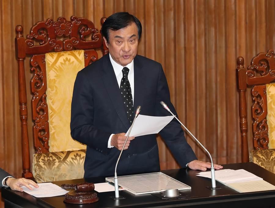台灣立法院長蘇嘉全。網上圖片