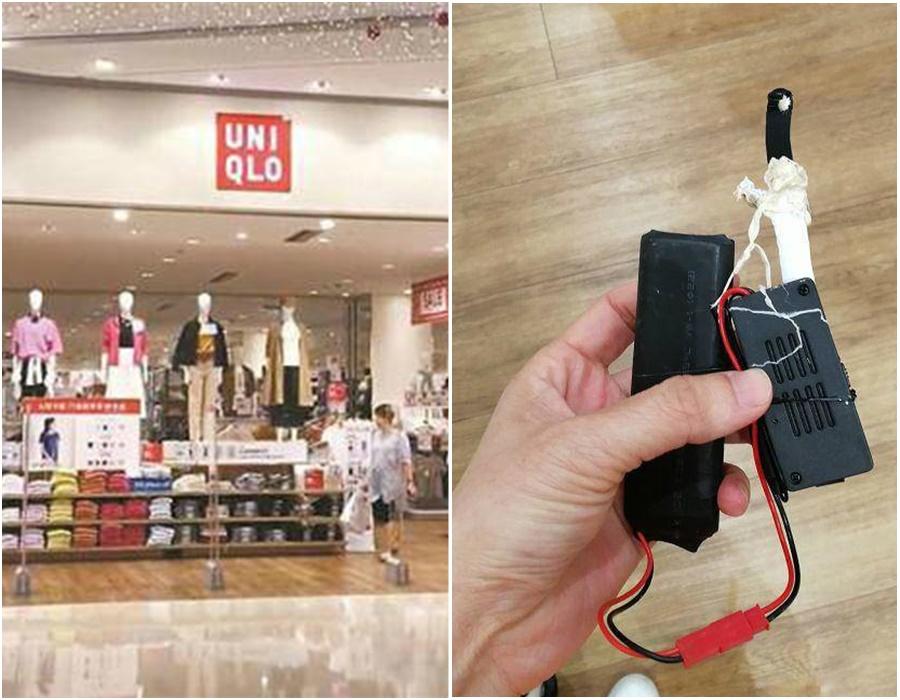 深圳Uniqlo試衫室女顧客揭發有人裝鏡頭偷拍。網上圖片