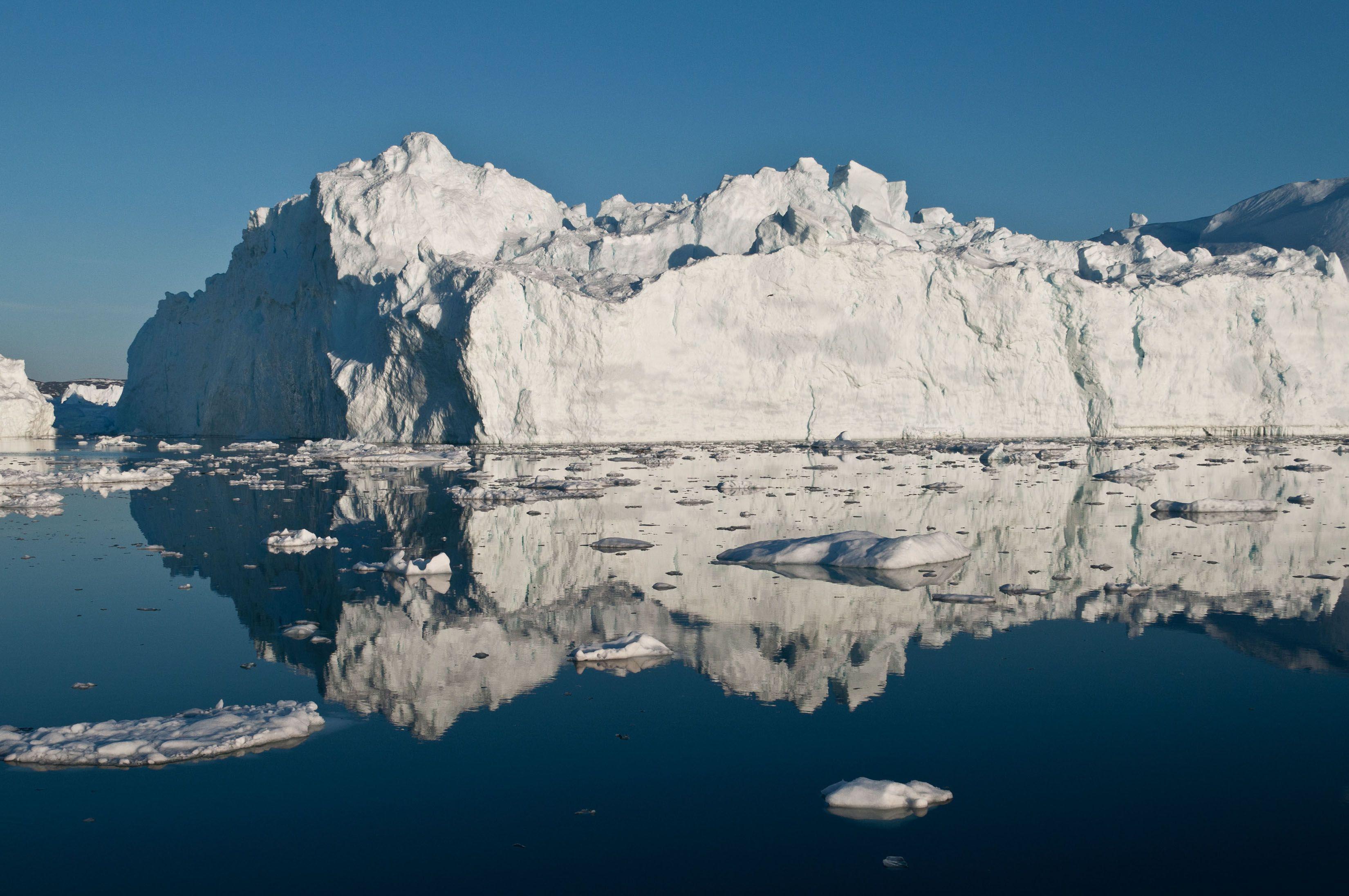 格陵蘭氣溫持續升高導致海冰融化。AP圖片