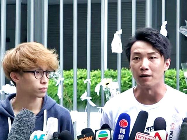 民陣召集人岑子杰(右)表示會將反修例訴求帶到七一。