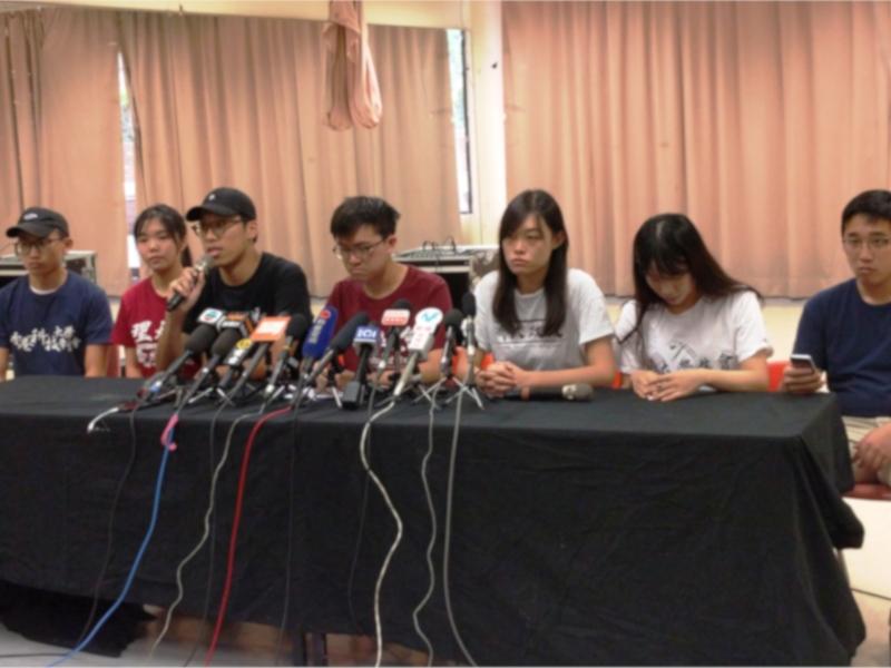 六個大學大專學生會及學聯表明不接受林鄭月娥的道歉。資料圖片