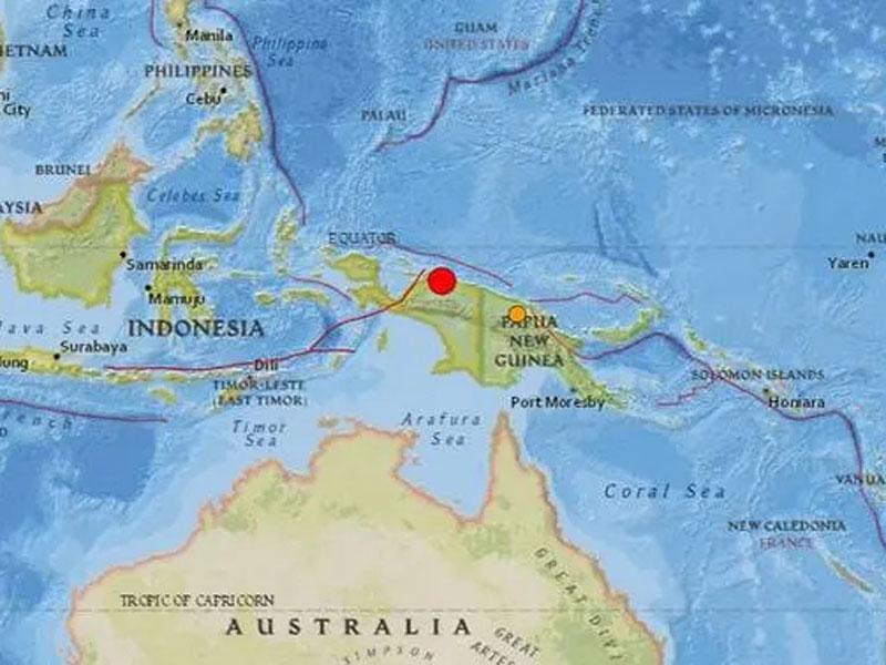 印尼东部巴布亚省20日发生规模6.3地震。(网图)