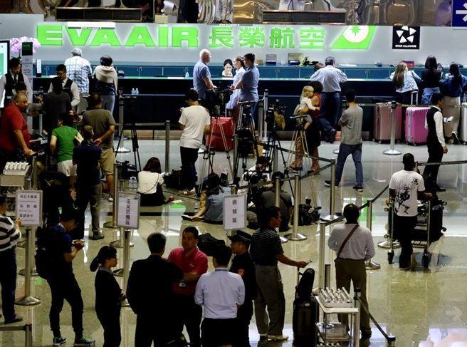 明日亦有79班來往台北、台中、高雄及各地的航班取消。網圖