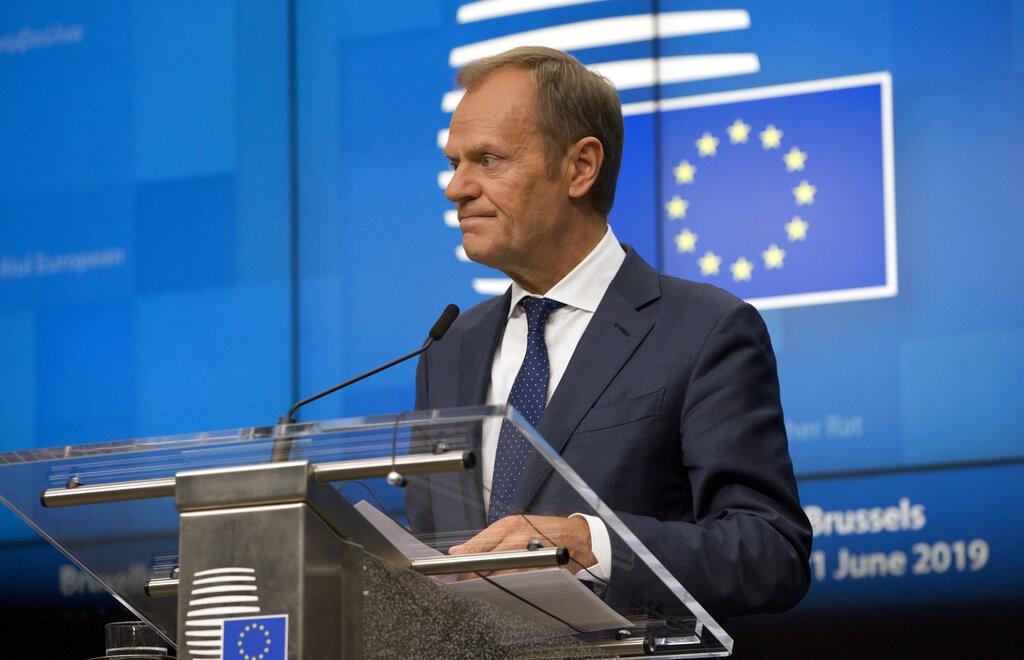 歐盟理事會主席圖斯克。AP
