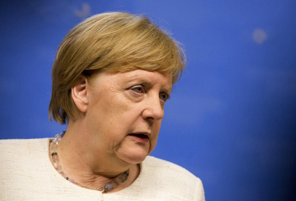 德國總理默克爾。AP